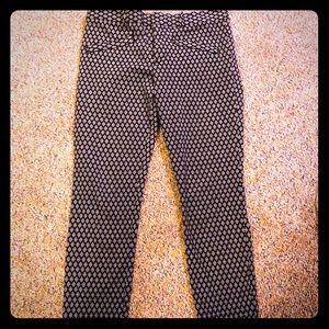 GAP black/white print pants